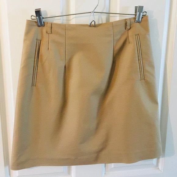 H&M Tan Mini Skirt
